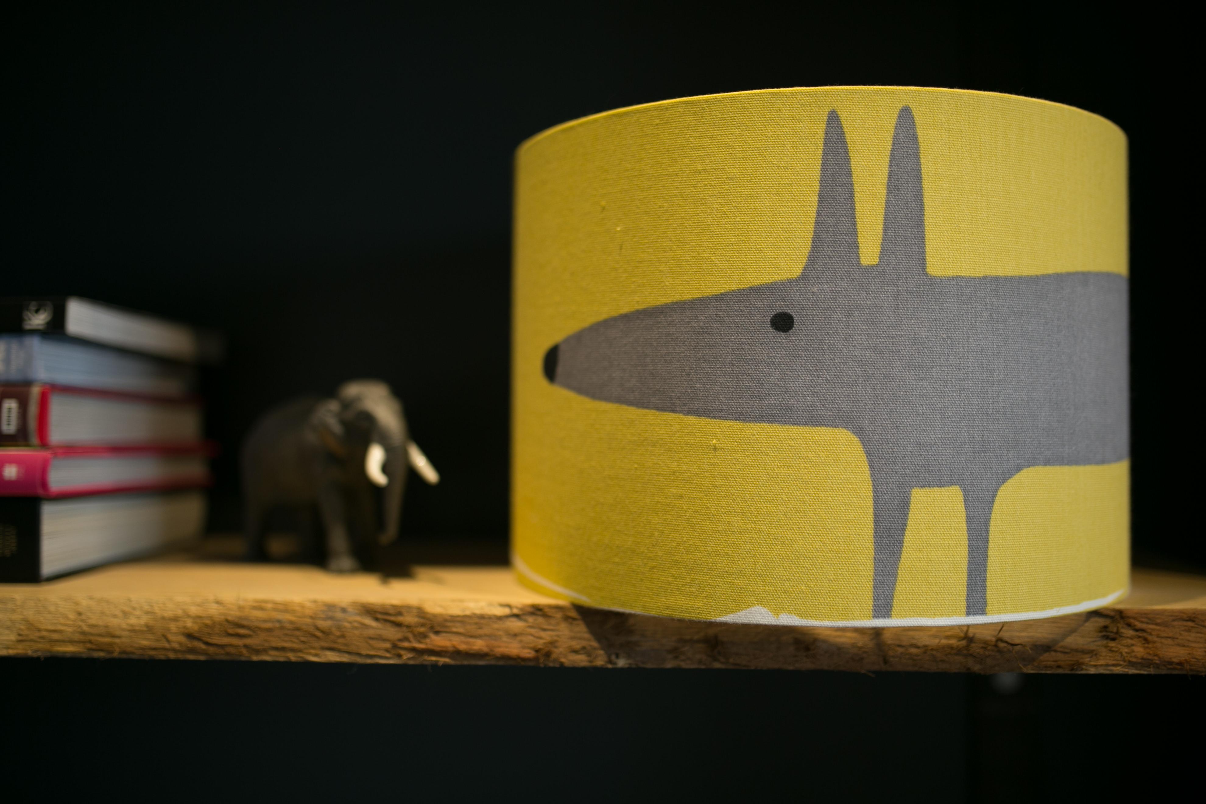 Mr Fox lampshade - Sapna Odlin Photography Funky Olive Interior Design