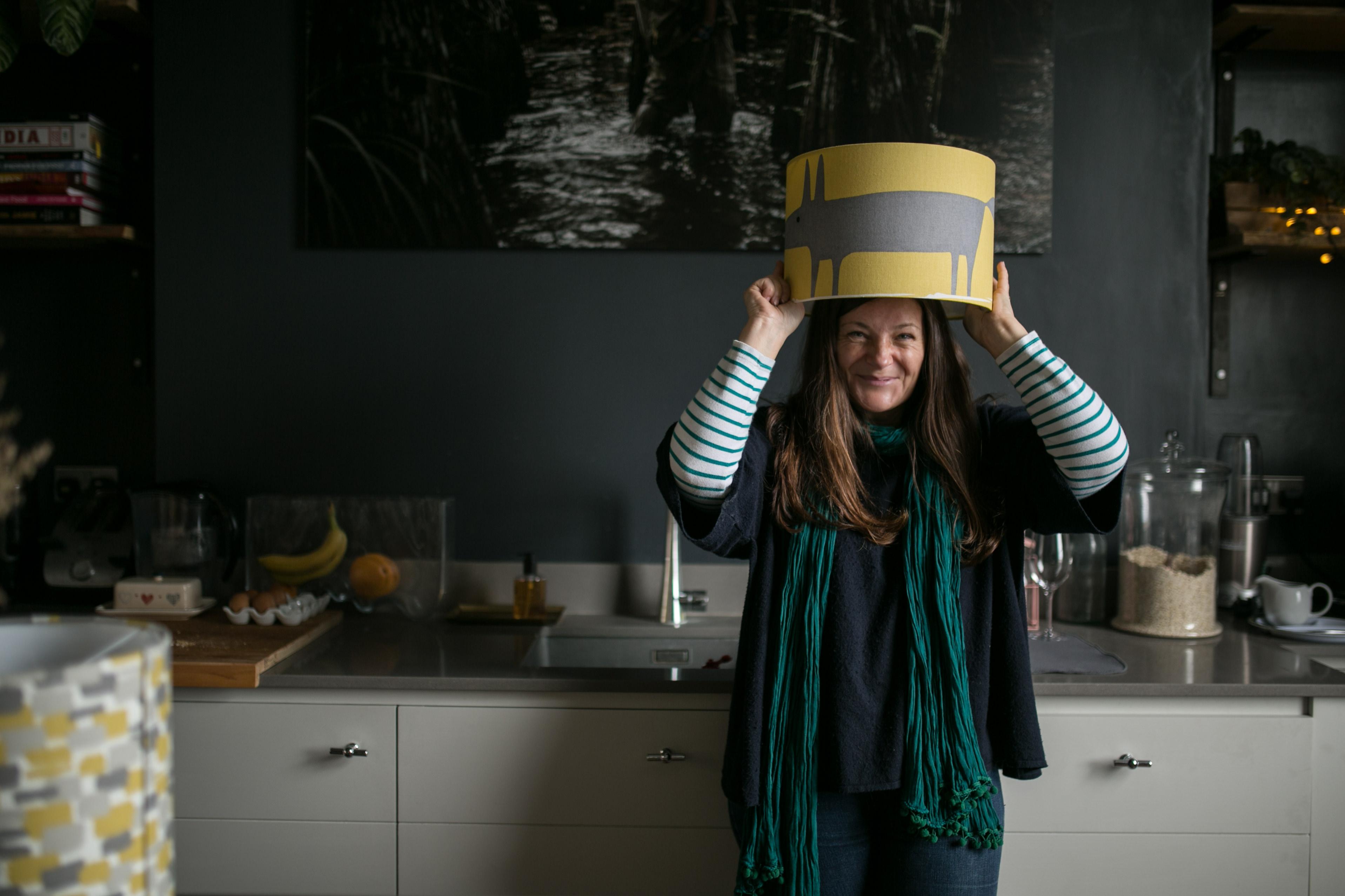 Lampshades - Berkshire Designer Sophie Handa Funky Olive