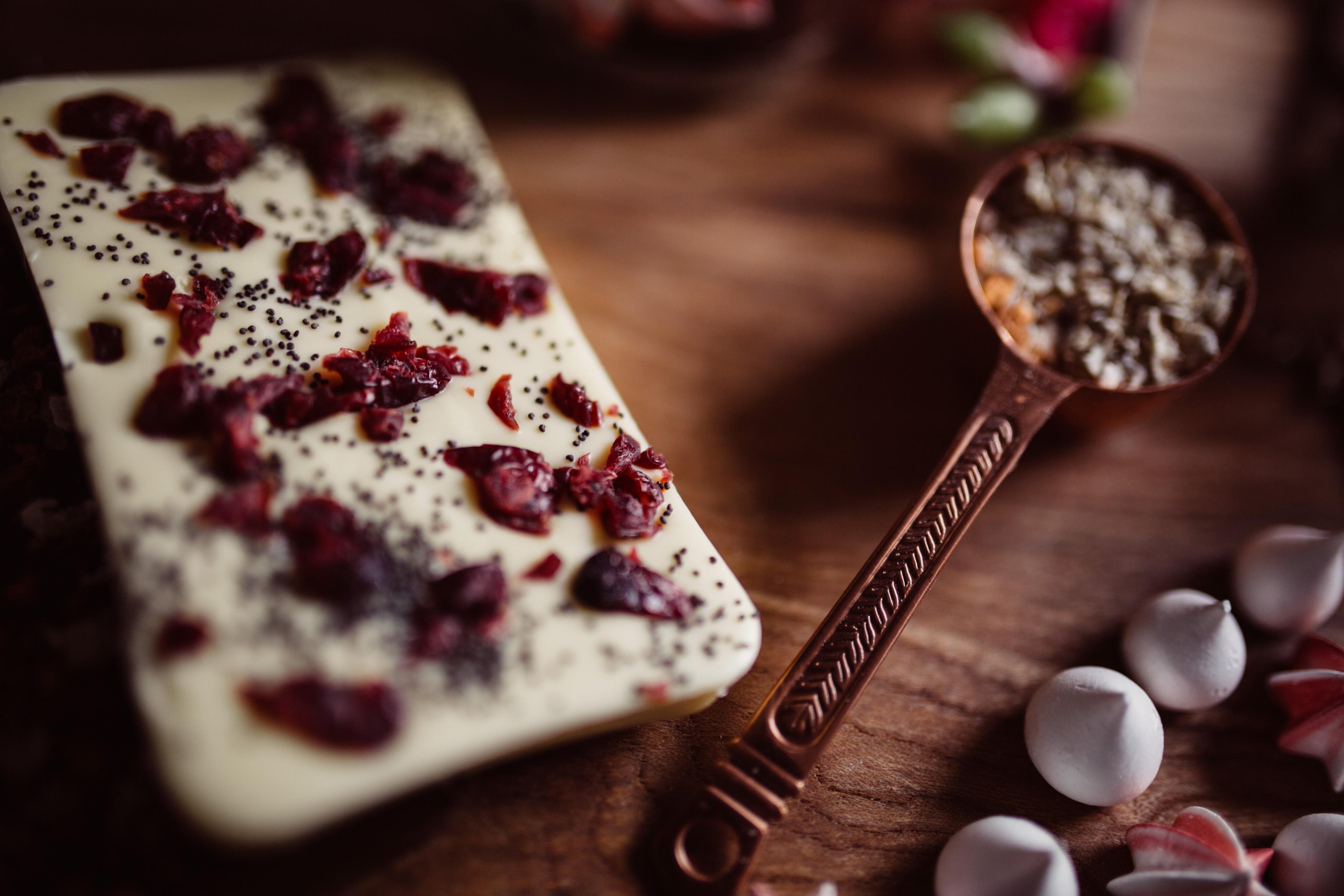 Cranberry and Poppy Seed chocolate - Rosetta D'Uva Sweet Folie