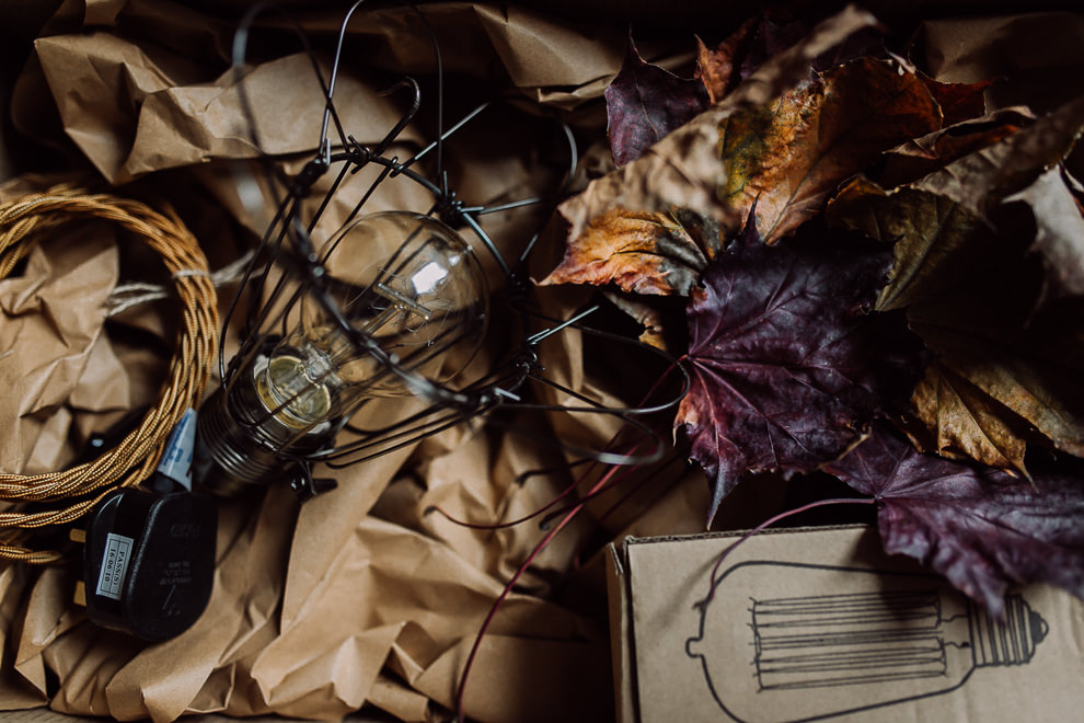 Industrial Vintage Lighting Twisted Material Cable LovePhoebe - Sapna Odlin Photography